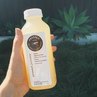 Instagram star and model Shannon Barker posts a picture of a Pressed Juicery drink on her Instagram