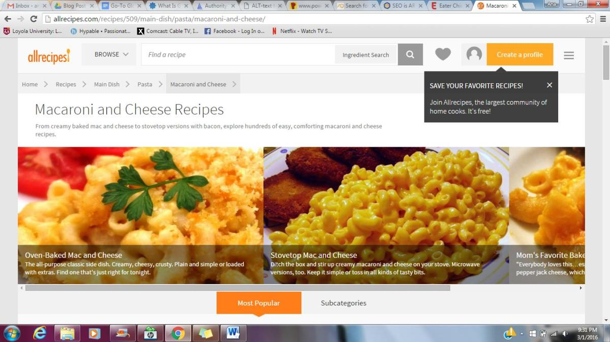 Mac n' Cheese recipes on AllRecipes.com