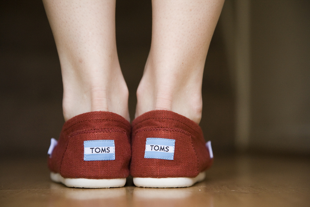 TOMS shoes red