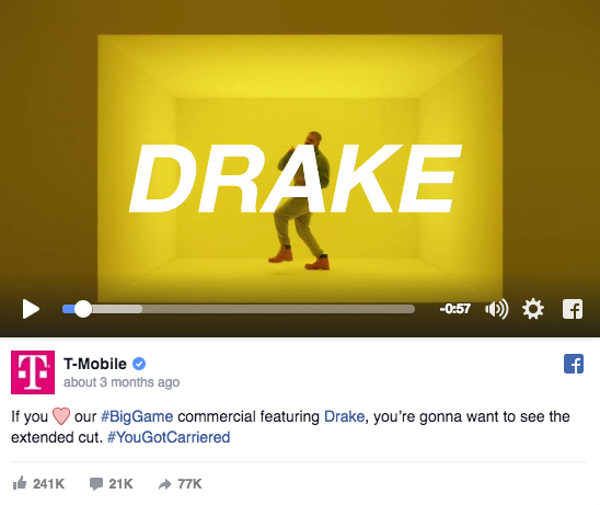 T-Mobile's 60-seconds with Drake